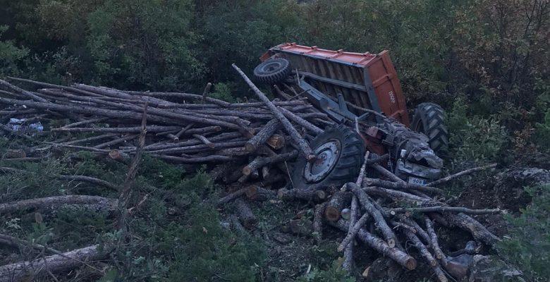 Traktör şarampole devrildi… 1 ölü, 3 yaralı!