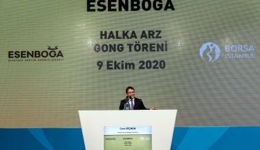 Borsa İstanbul'da gong, Esenboğa Elektrik için çaldı