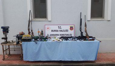 Kaçak silah imalathanesine yönelik operasyonda 2 şüpheli yakalandı