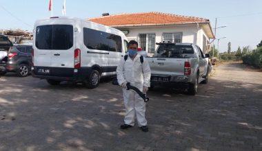 Çanakkale Belediyesi dezenfekte çalışmalarına devam ediyor