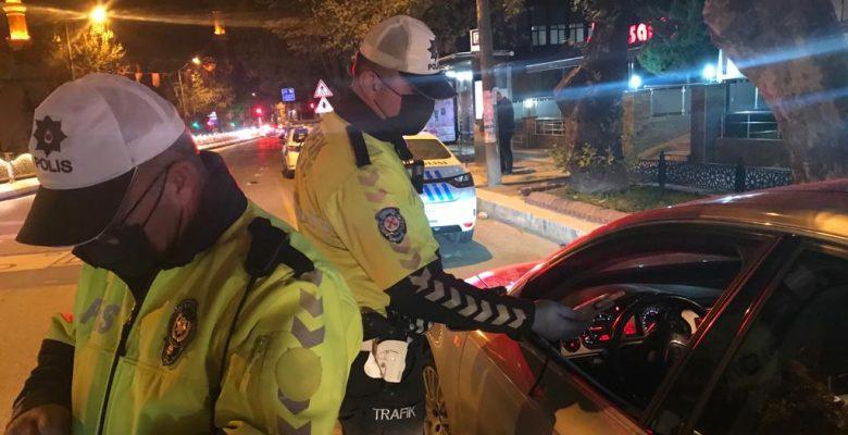 Edirne'de polis ekiplerinden denetim
