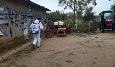 Edirne'de salgınla mücadele kapsamında dezenfeksiyon çalışmaları devam ediyor