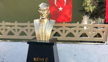Süloğlu'nda tahrip edilen Atatürk büstü onarıldı