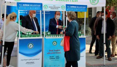 Edirne'de vatandaşlara 10 bin kandil simidi…