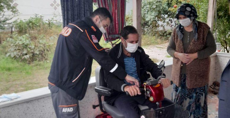Engelli 60 yaşındaki kişinin elektrikli araç hayalini AFAD gerçekleştirdi