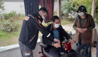 60 yaşındaki engellinin elektrikli araç hayalini AFAD gerçekleştirdi