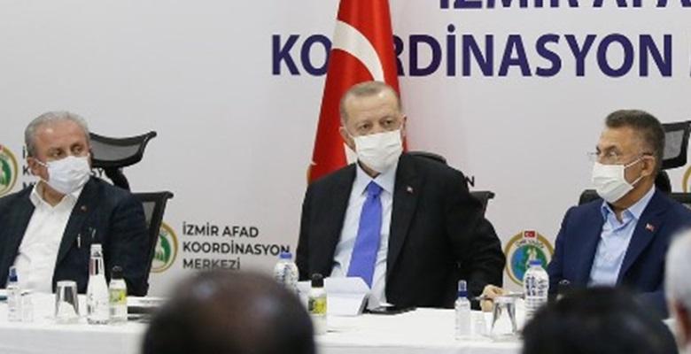 Cumhurbaşkanı Erdoğan, AFAD Koordinasyon Merkez'inde açıklamalarda bulundu