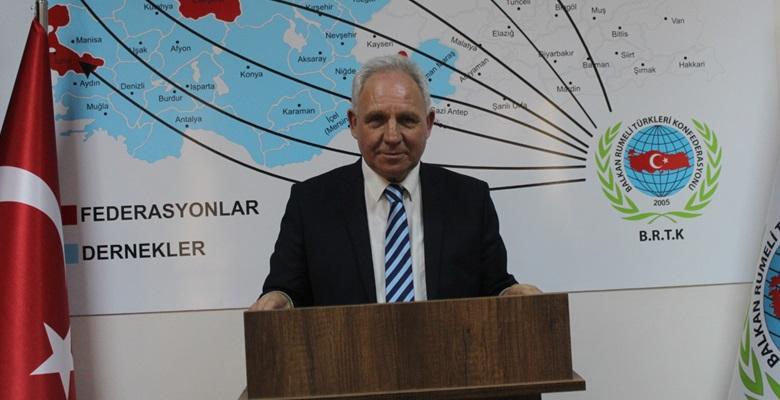 """Balkan Rumeli Türkleri Konfederasyonundan İzmir için """"geçmiş olsun"""" mesajı"""