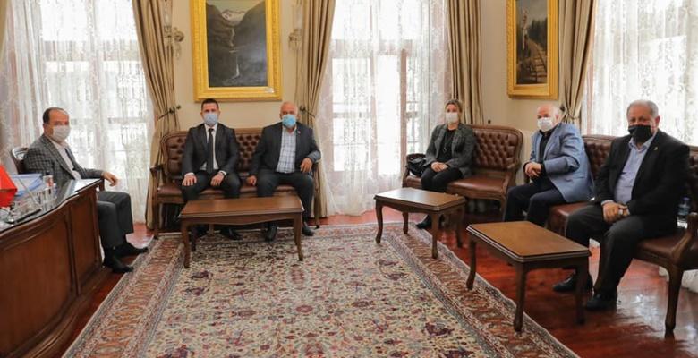 Dernek yönetiminden Başkan Gürkan'a ziyaret