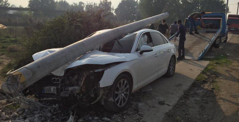 Kazaya karışan sürücü aracını bırakıp gitti