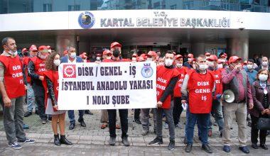 Kartal Belediyesine grev kararı asıldı