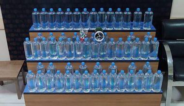 Keşan'da kaçak alkol üretiminde kullanılan malzemeler ele geçirildi