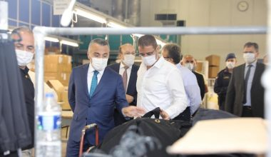 Vali Bilgin fabrikalarda Kovid-19 denetimi yaptı