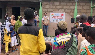 Hayırseverlerin desteğiyle Afrika'da su kuyusu açıldı