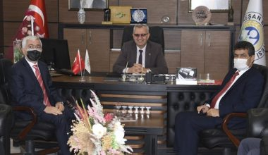 Tanıtım kapsamında Keşan'a gelen Kooperatifçilerden Helvacıoğlu'na ziyaret