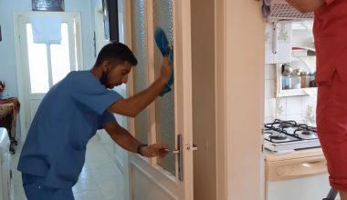 Lüleburgaz'da Kovid-19'a karşı ihtiyaç sahibi vatandaşların evleri temizleniyor