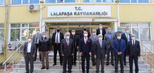 MHP heyeti Lalapaşa'da ziyaretlerde bulundu