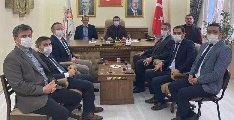 Sağlık Müdürlüğü yönetiminden Başkan Gürcan'a ziyaret