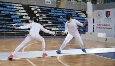 Sakarya'daki 12 ve 14 yaş altı epe açık turnuvası sona erdi