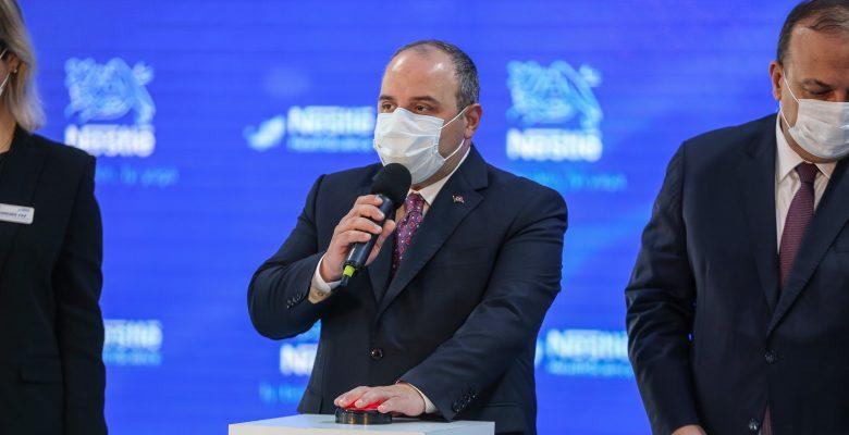 Sanayi ve Teknoloji Bakanı Mustafa Varank, Bursa'da temel atma töreninde konuştu: