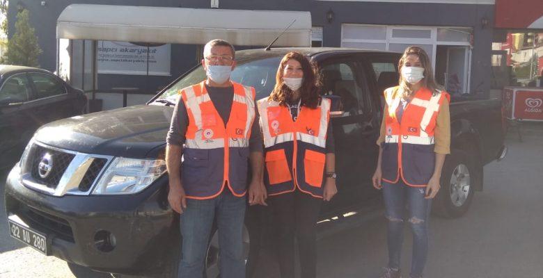 Edirne'den İzmir'e yardım…