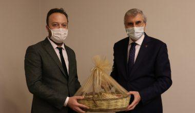 AA Bölge Müdürü Velioğlu'ndan Büyükşehir Belediye Başkanı Yüce'ye ziyaret