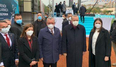 KEFEK Başkanı Aksal, Cumhurbaşkanı Erdoğan'la bir araya geldi