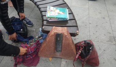 Şüpheli çanta fünye ile patlatıldı!