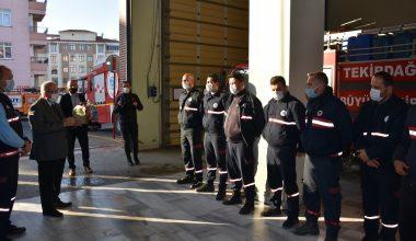 İzmir'den dönen Tekirdağ arama kurtarma ekibi alkışlarla karşılandı