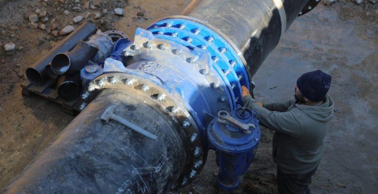 Edirne'nin su ihtiyacını karşılamak için iki barajın ishale hatları birleştirilmeye başlandı