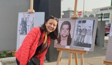 Eğitimciler, öğretmenleriyle çekildikleri fotoğraflarla sergi açtı