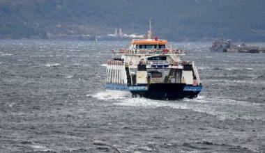 Gökçeada ve Bozcaada feribot seferleri iptal edildi!