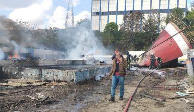 Fabrika sökümünde yangın!