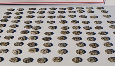 Tarihi eser niteliğinde olduğu değerlendirilen 100 sikke ele geçirildi