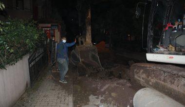 Altyapı çalışmasında doğal gaz borusu delindi bir site boşaltıldı