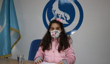 """Küçük Elif'ten """"çocuk hakları"""" mesajı"""