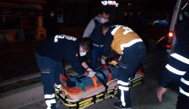 Malkara'da yön tabelasına çarpan motosikletin sürücüsü yaralandı