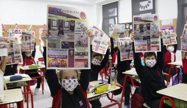 TED Koleji öğrencilerinden gazete…