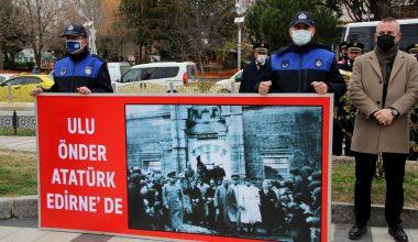 Atatürk'ün Edirne'ye gelişinin 90. yıl dönümü kutlandı