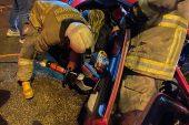 Otomobille tırın çarpışması sonucu 3 kişi yaralandı