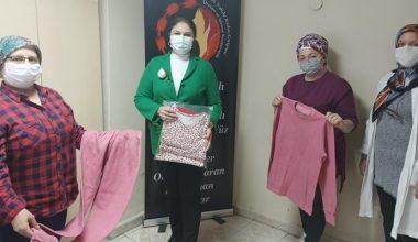 Edirneli kadınlar dayanışma amacıyla cezaevindeki kadın ve çocukları için pijama dikti