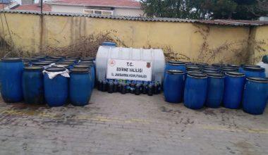 5 bin 650 litre sahte içki ele geçirildi