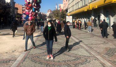 Edirne'de yoğun caddelerde kişi sınırlaması…