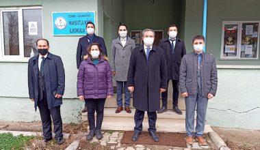 Milli Eğitim Müdürü Arpacı Uzunköprü köy okullarına gitti