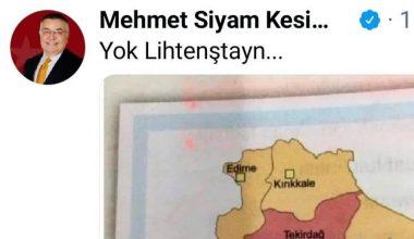 """""""Kırklareli'nin"""" adının hatalı olarak """"Kırıkkale"""" yazıldığı harita paylaşımına Belediye Başkanı'ndan esprili yanıt:"""