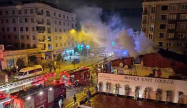 Yangın çıkan evden kurtarmaya çalıştığı eşiyle birlikte yaralandı