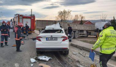 Tıra çarpan otomobilin sürücüsü yaşamını yitirdi!