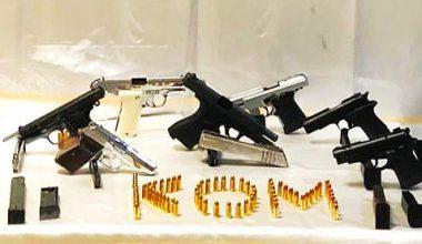 Silah kaçakçılığı operasyonunda 9 kişi yakalandı