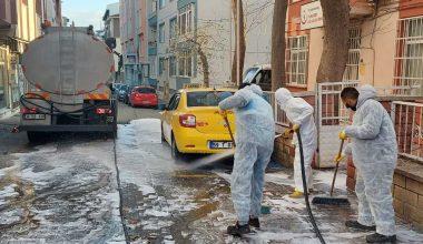 Koronavirüsle mücadelede sokaklarda dezenfekte…