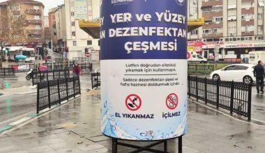 """""""Dezenfektan çeşmeleri"""" salgınla mücadelede kullanılıyor"""
